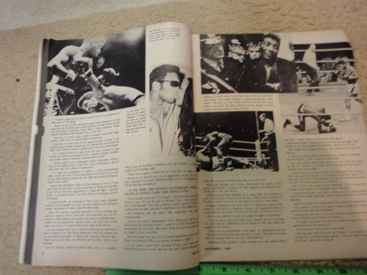"""Patterson, Floyd and Jimmy Ellis """"The Ring"""" Boxing Magazine 1968 Signed Autograph Color Cover"""