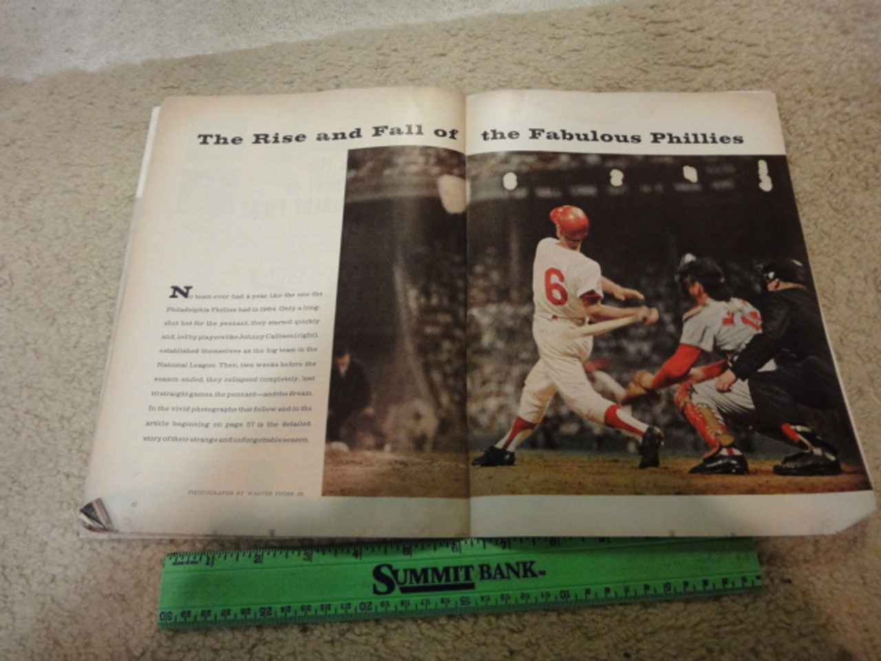 """Bunning, Jim and Bo Belinsky """"Sports Illustrated"""" Magazine 1965 Signed Autograph Phillies Baseball Color Cover Photo"""