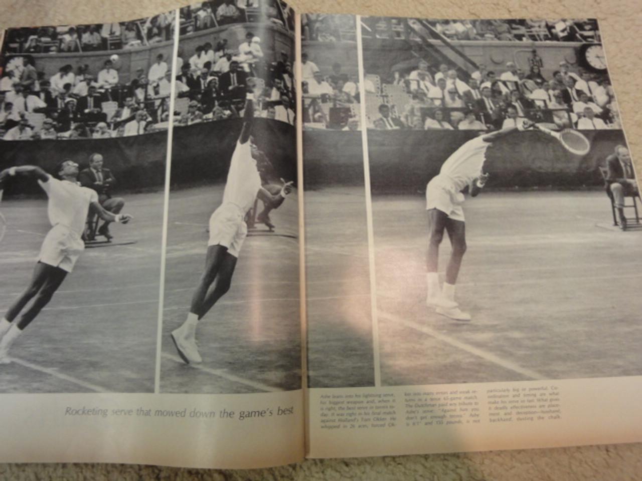 "Ashe, Arthur ""Life"" Magazine 1968 Signed Autograph Color Cover Photo Tennis"