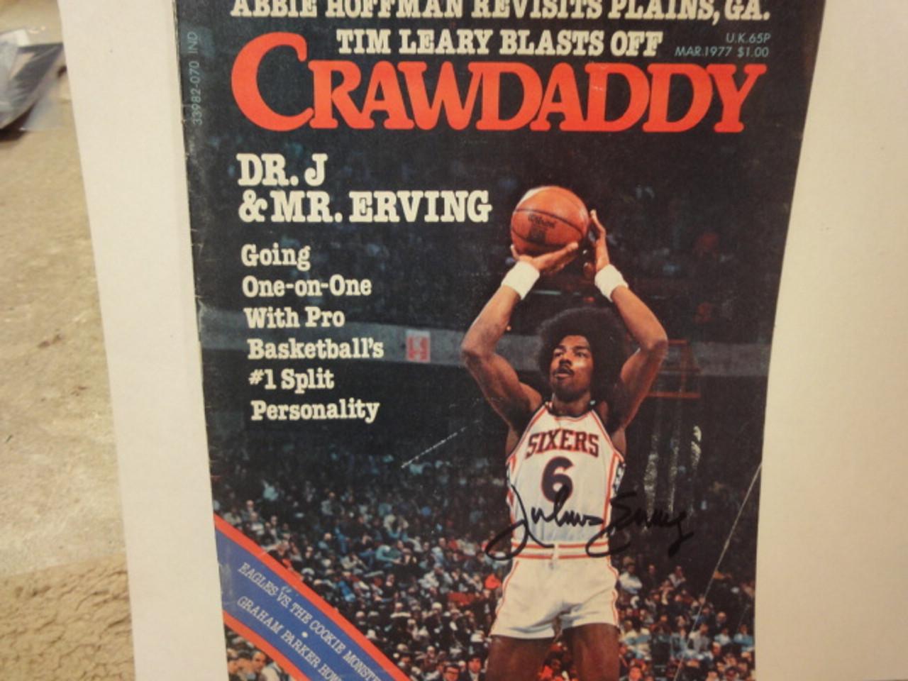 Erving, Julius Crawdaddy Magazine 1977 Signed Autograph
