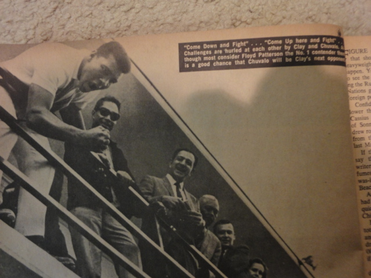 """Clay, Cassius Muhammad Ali """"Boxing Illustrated News"""" Magazine 1965 Signed Autograph Color Photograph"""