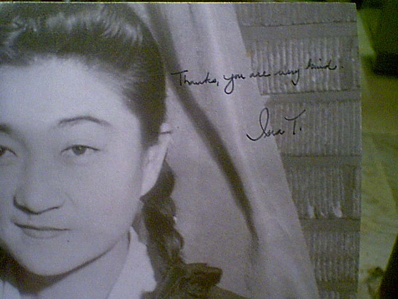 Tokyo Rose Iva Toguri Early Photo Signed Autograph Ww Ii