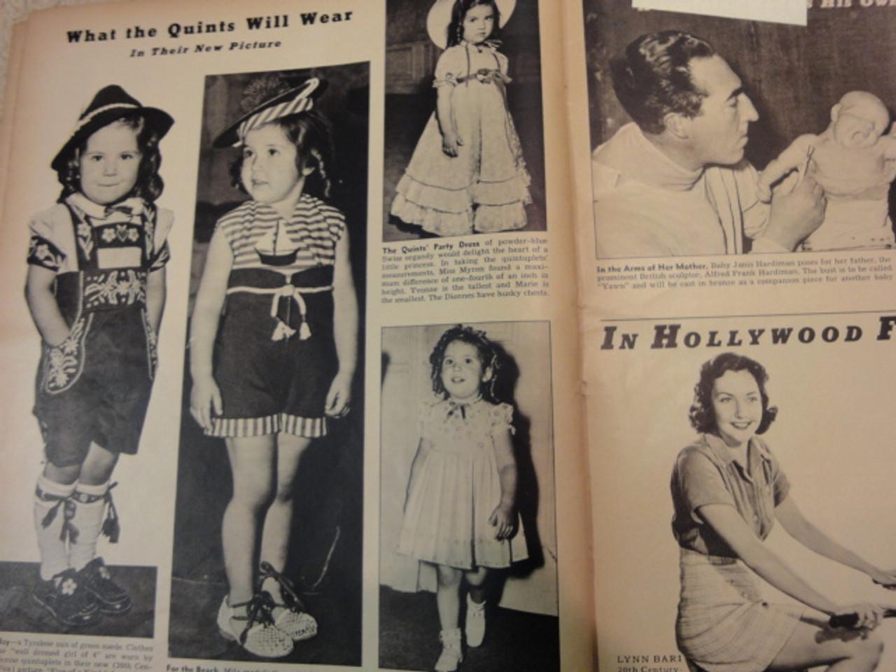 Dionne, Cecile Look Magazine 1938 Signed Autograph Color Cover Photo Dionne Quintuplets