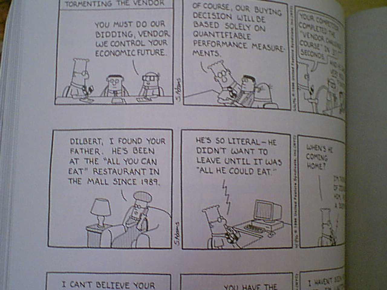 """Adams, Scott """"All Dressed Down And Nowhere To Go"""" 2002 """"Dilbert"""" Book Signed Autograph Illustrated"""