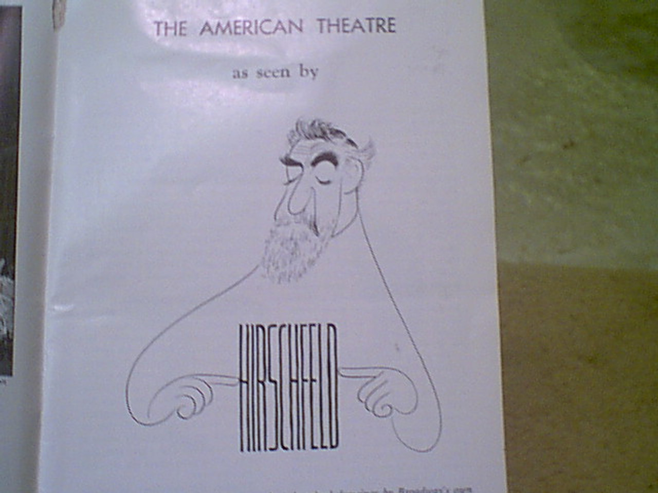 Hirschfeld, Al 1961 Playbill Signed Autograph Article With Drawings