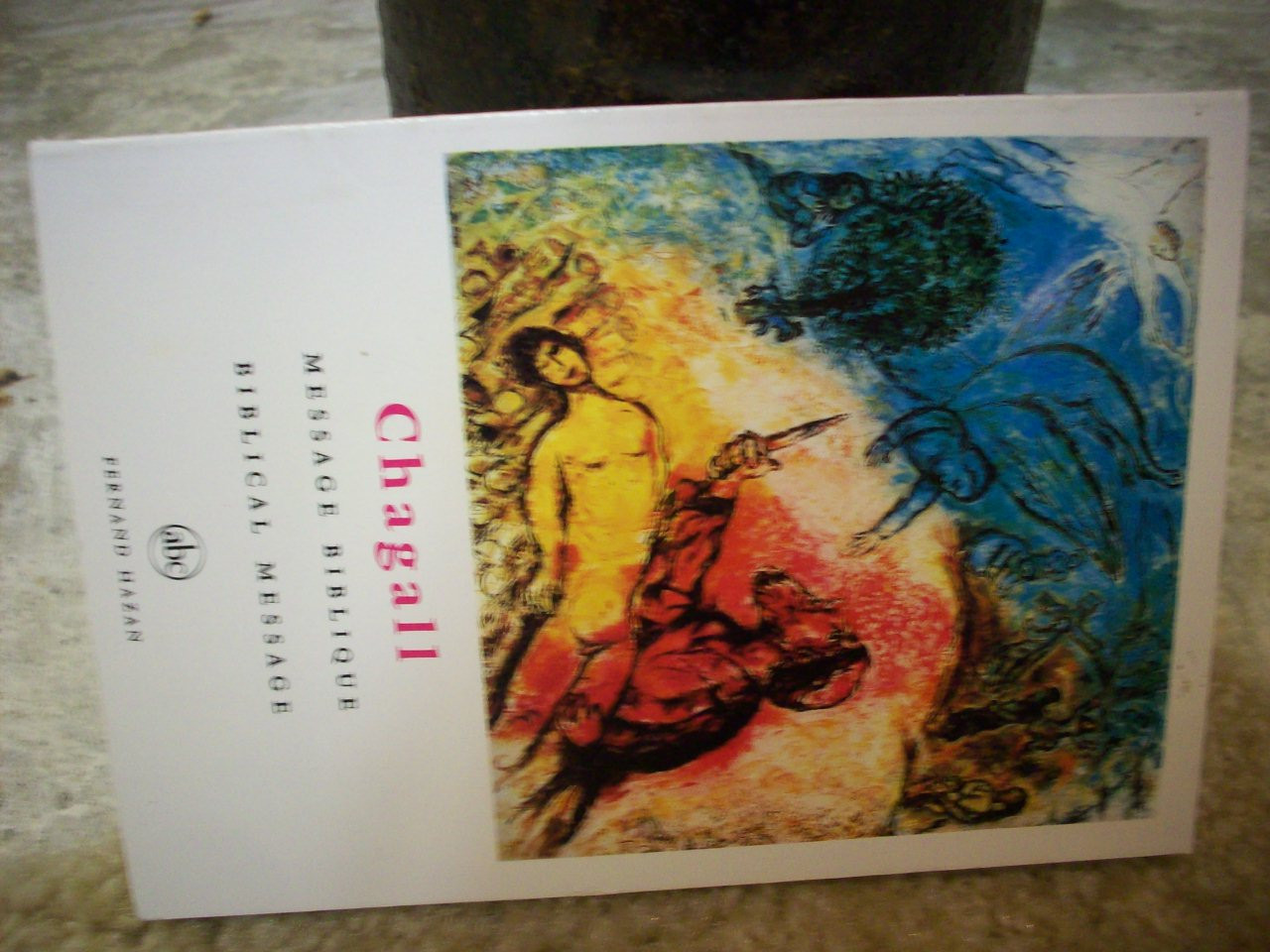 """Chagall, Marc """"Biblical Message"""" 1975 Book Signed Autograph Color Illustrations"""