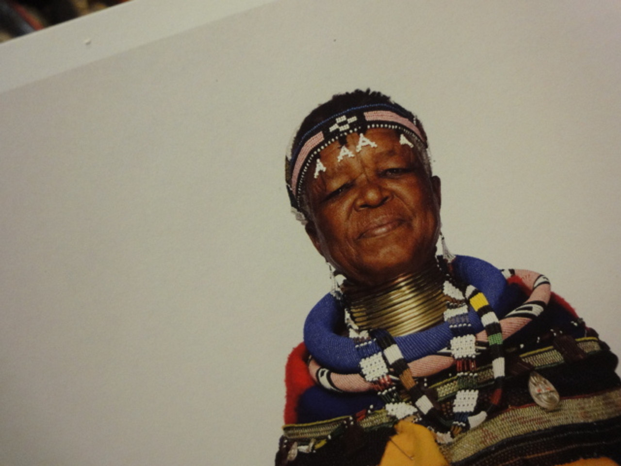 Mahlangu, Esther Color Photo Signed Autograph Original African Garb