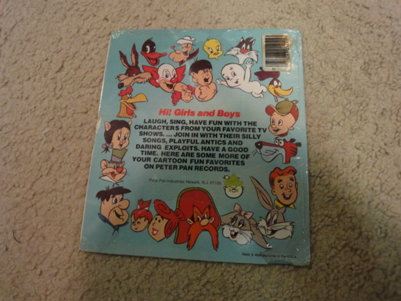 """Jones, Chuck and Mel Blanc """"Elmer Fudd"""" 45RPM Record With Picture Cover Signed Autograph Sealed"""