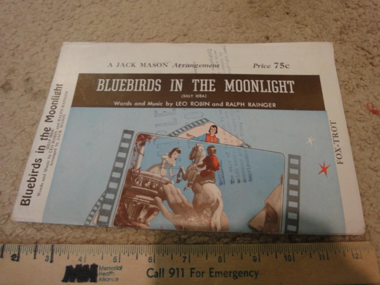 "Fleischer, Max ""Gulliver's Travels"" 1939 Sheet Music Signed Autograph ""Bluebirds In The Moonlight"""
