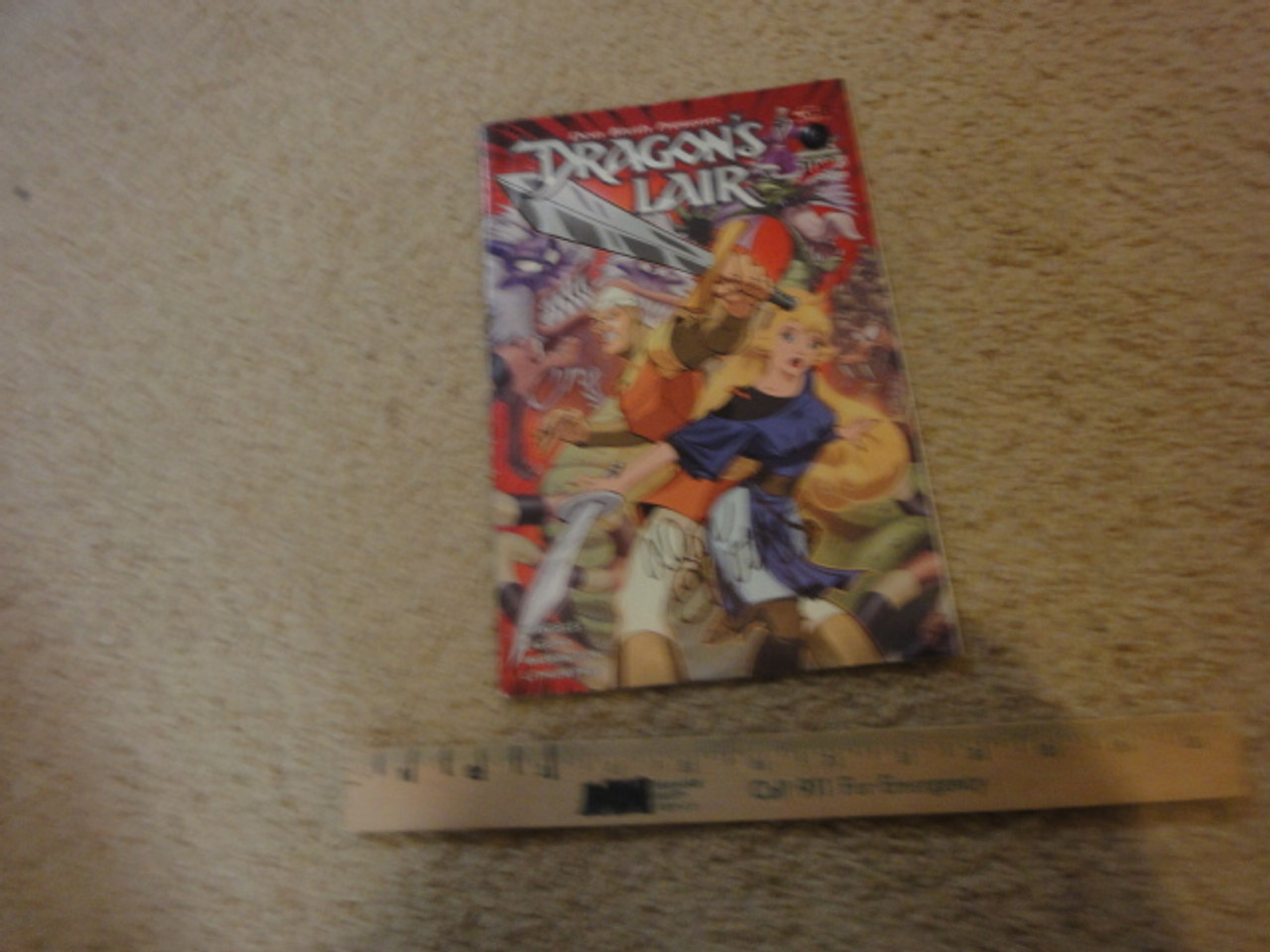 """Bluth, Don """"Dragon's Lair"""" 2003 Color Comic Book Signed Autograph"""