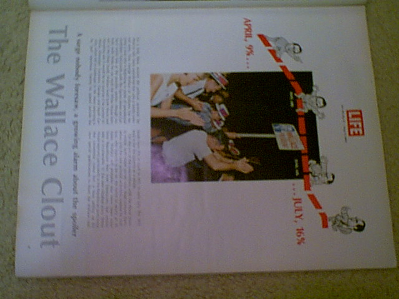 Wallace, Governor George Life Magazine 1968 Signed Autograph Cover