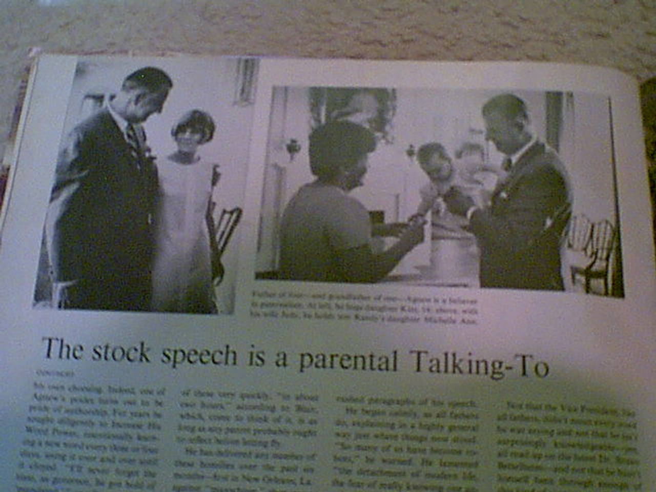 Agnew, Spiro Life Magazine 1970 Signed Autograph Cover Photo Nixon