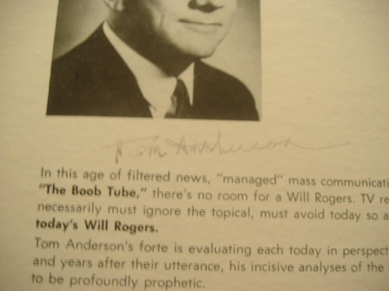 Anderson, Tom LP Signed Autograph Bi Partisan Treason Right Wing Anti Communist