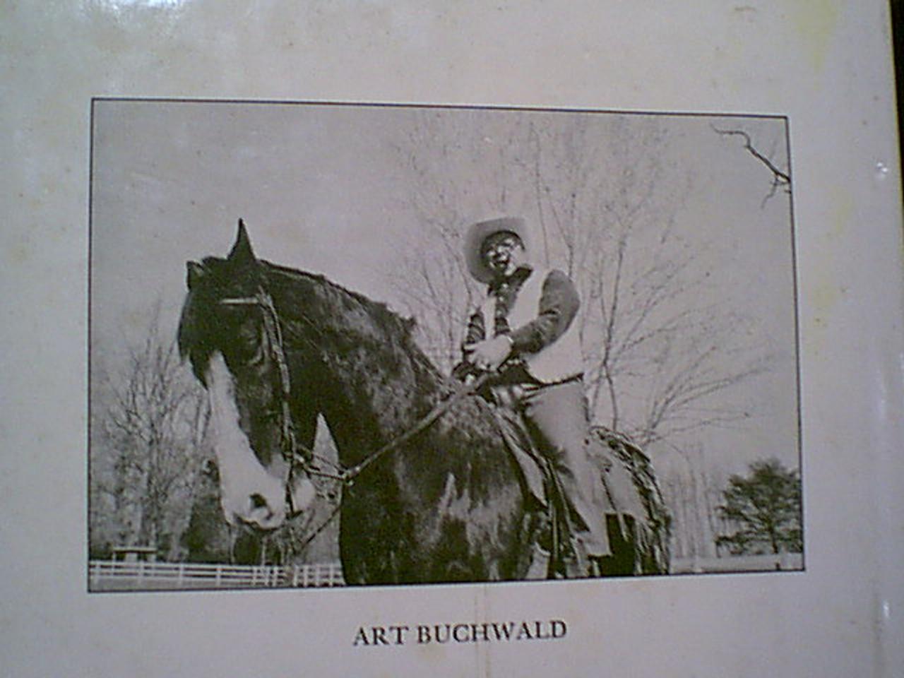"Buchwald, Art ""Laid Back In Washington"" 1981 Book Signed Autograph"