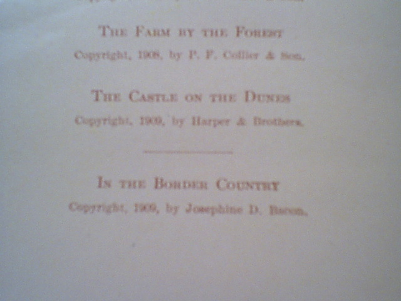 """Bacon, Josephine Daskam """"In The Border Country"""" 1909 Book Signed Autograph Illustrated"""