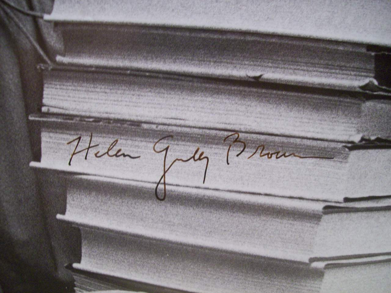 Brown, Helen Gurley Photo Signed Autograph Cosmopolitan