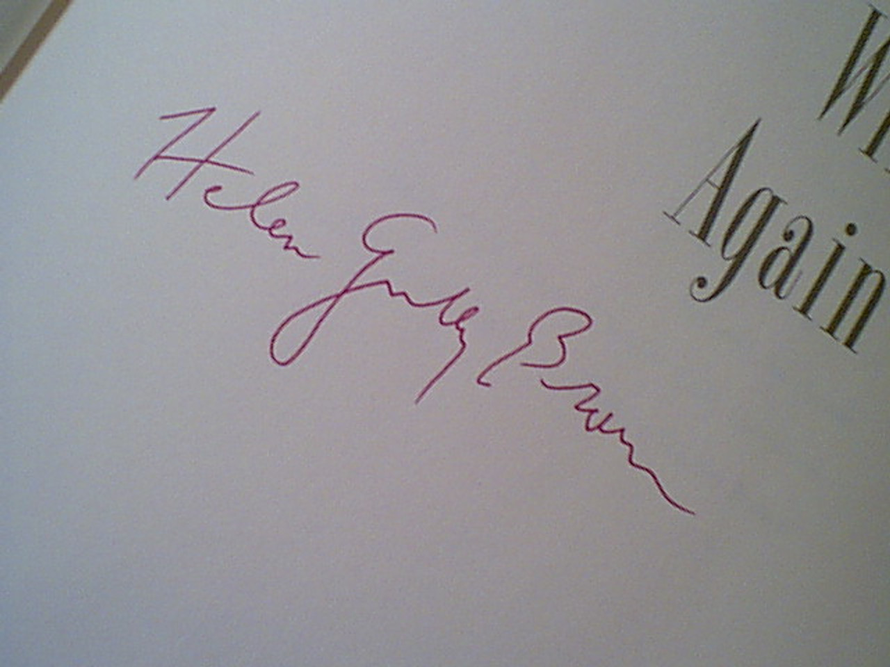 """Brown, Helen Gurley """"I'm Wild Again"""" 1982 Book Signed Autograph Photos"""