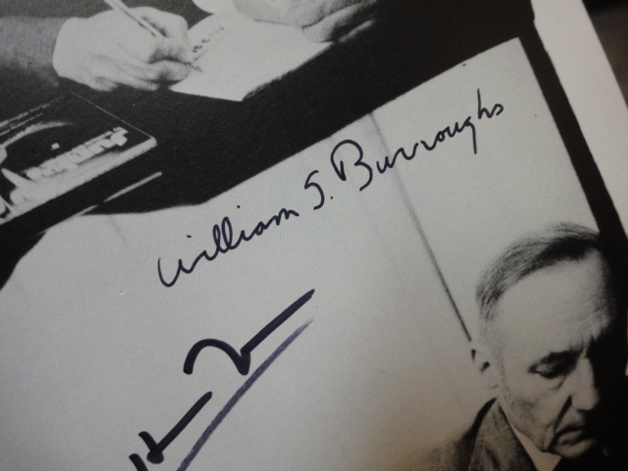 Burroughs, William and Patti Smith Photo Signed Autograph Candid