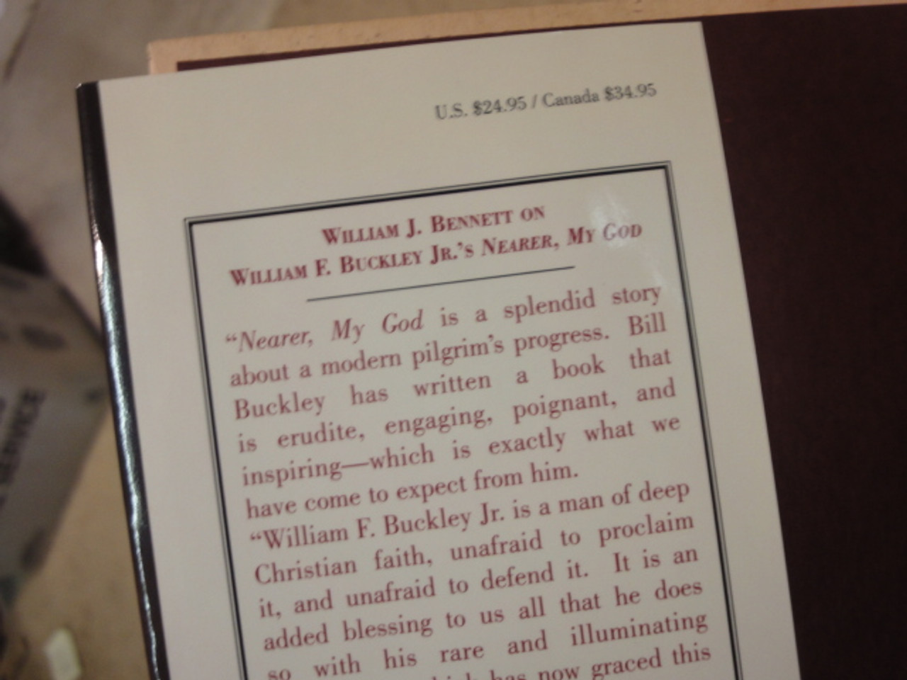 """Buckley Jr William F. """"Nearer My God"""" """"An Autobiography Of Faith"""" 1997 Book Signed Autograph Illustrated"""