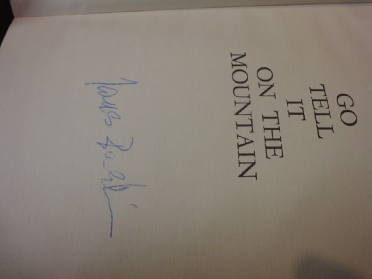 """Baldwin, James """"Go Tell It On The Mountain"""" 1963 Book Signed Autograph"""