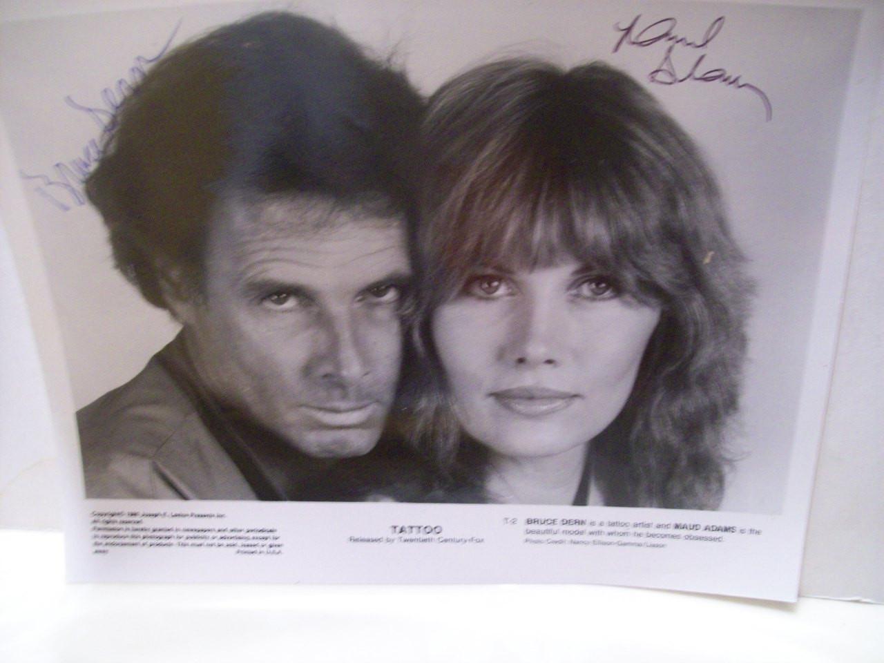 Adams, Maud Bruce Dern Photo Signed Autograph Tattoo 1981