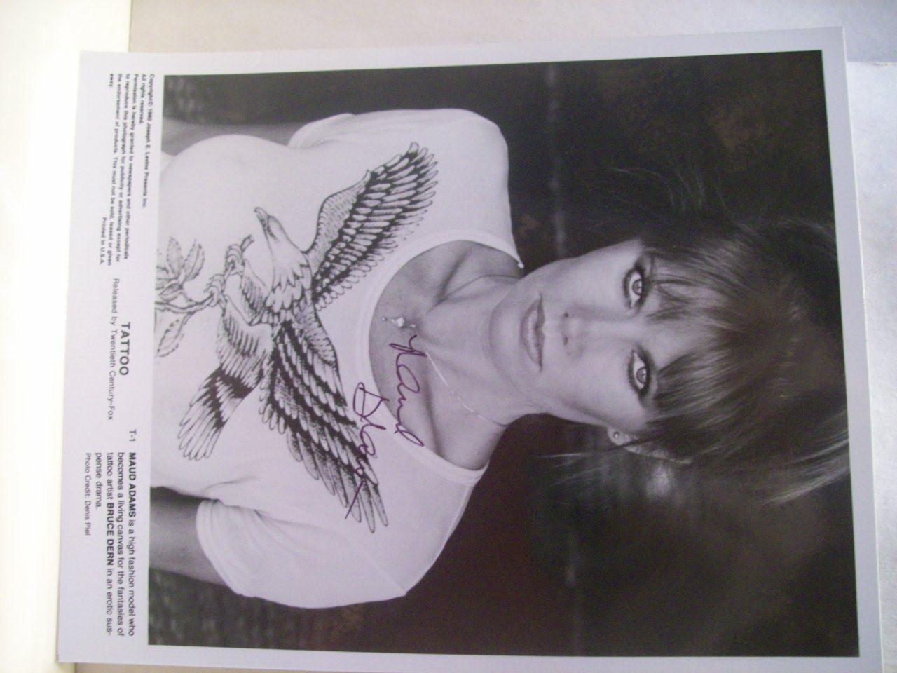 Adams, Maud Photo Signed Autograph Tattoo 1980