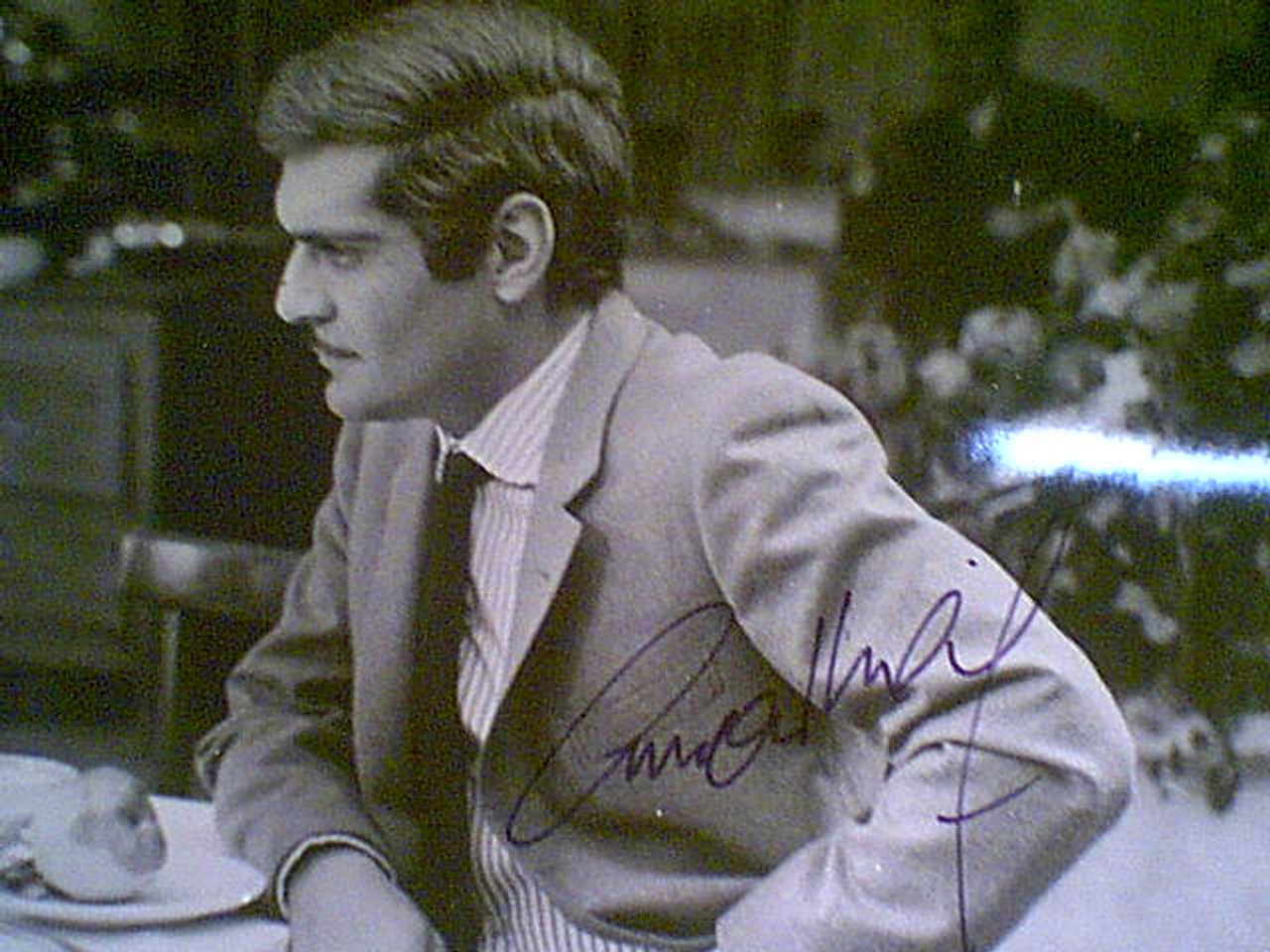 """Aimee, Anouk & Omar Sharif """"The Appointment"""" 1969 Photo Signed Autograph Movie Scene"""