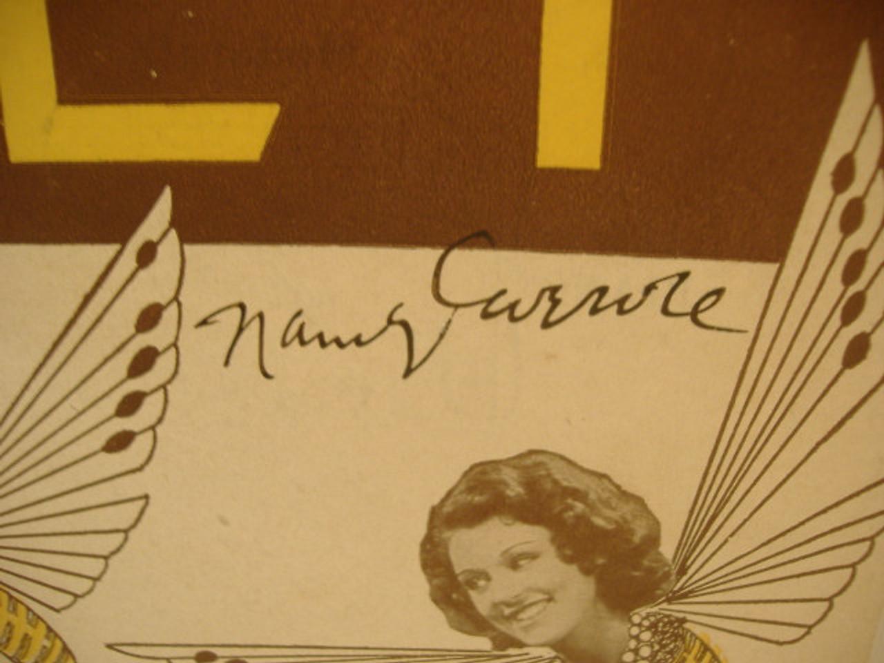 Carroll, Nancy Skeets Gallagher Sheet Music Signed Autograph Sing You Sinners Honey 1930