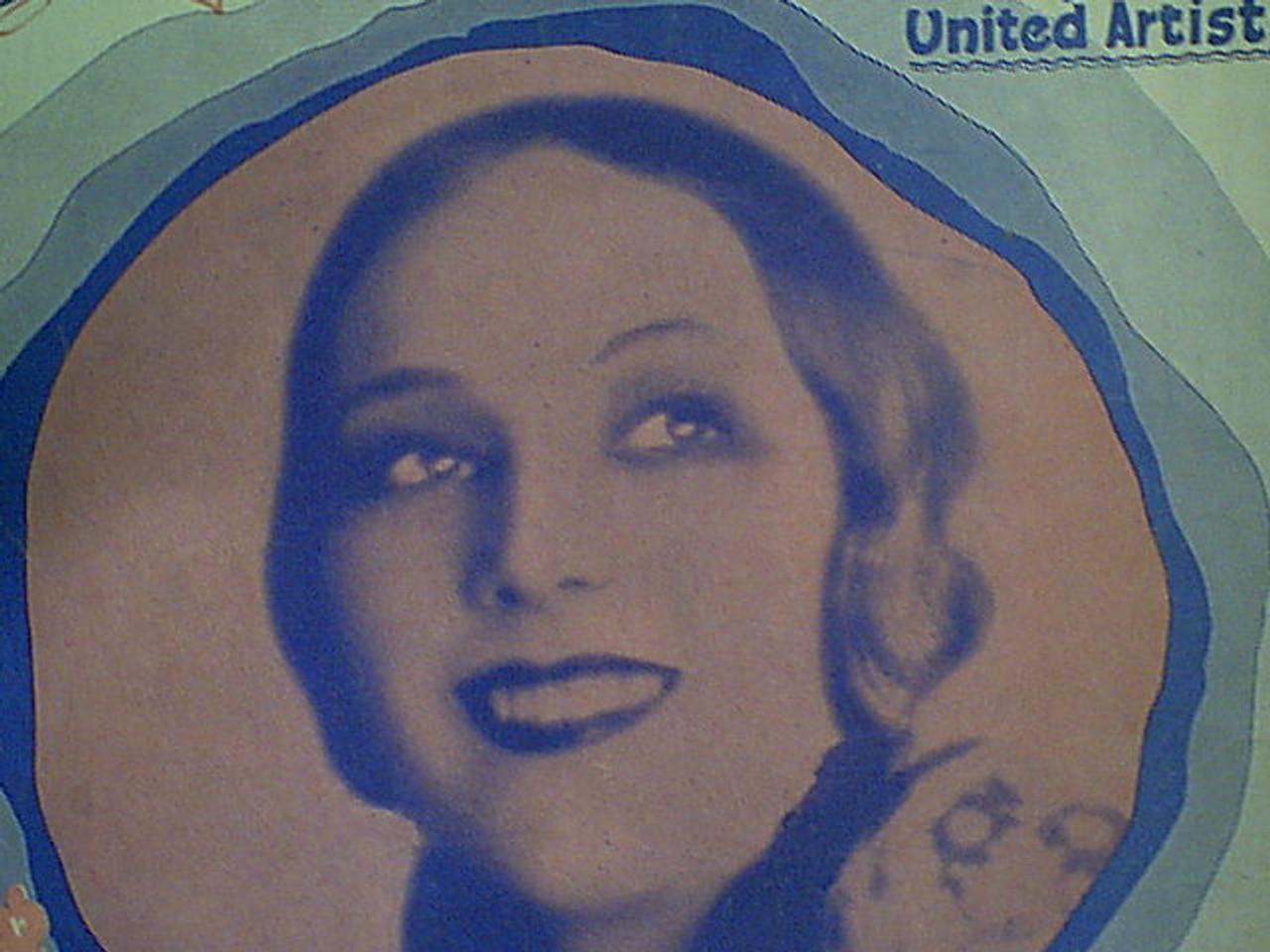 """Del Rio, Dolores """"Ramona"""" 1928 Sheet Music Signed Autograph"""