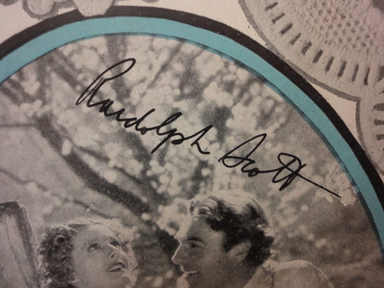 """Dunne, Irene and Randolph Scott """"High Wide And Handsome"""" 1937 Sheet Music Signed Autograph """"Can I Forget You"""" Cover Photo"""
