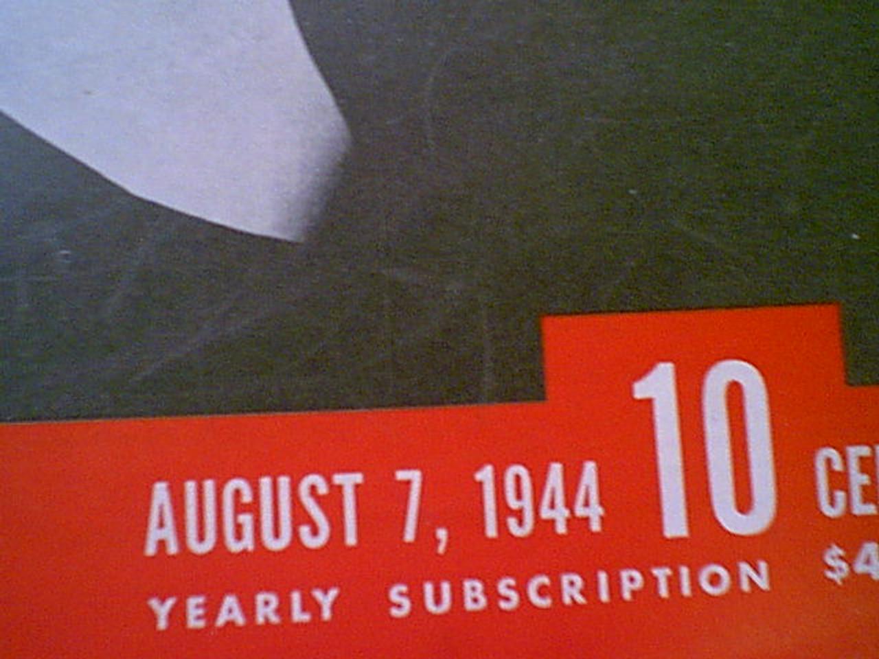 "Fitzgerald, Geraldine Life Magazine 1944 Signed Autograph Cover Photo ""Wilson"""
