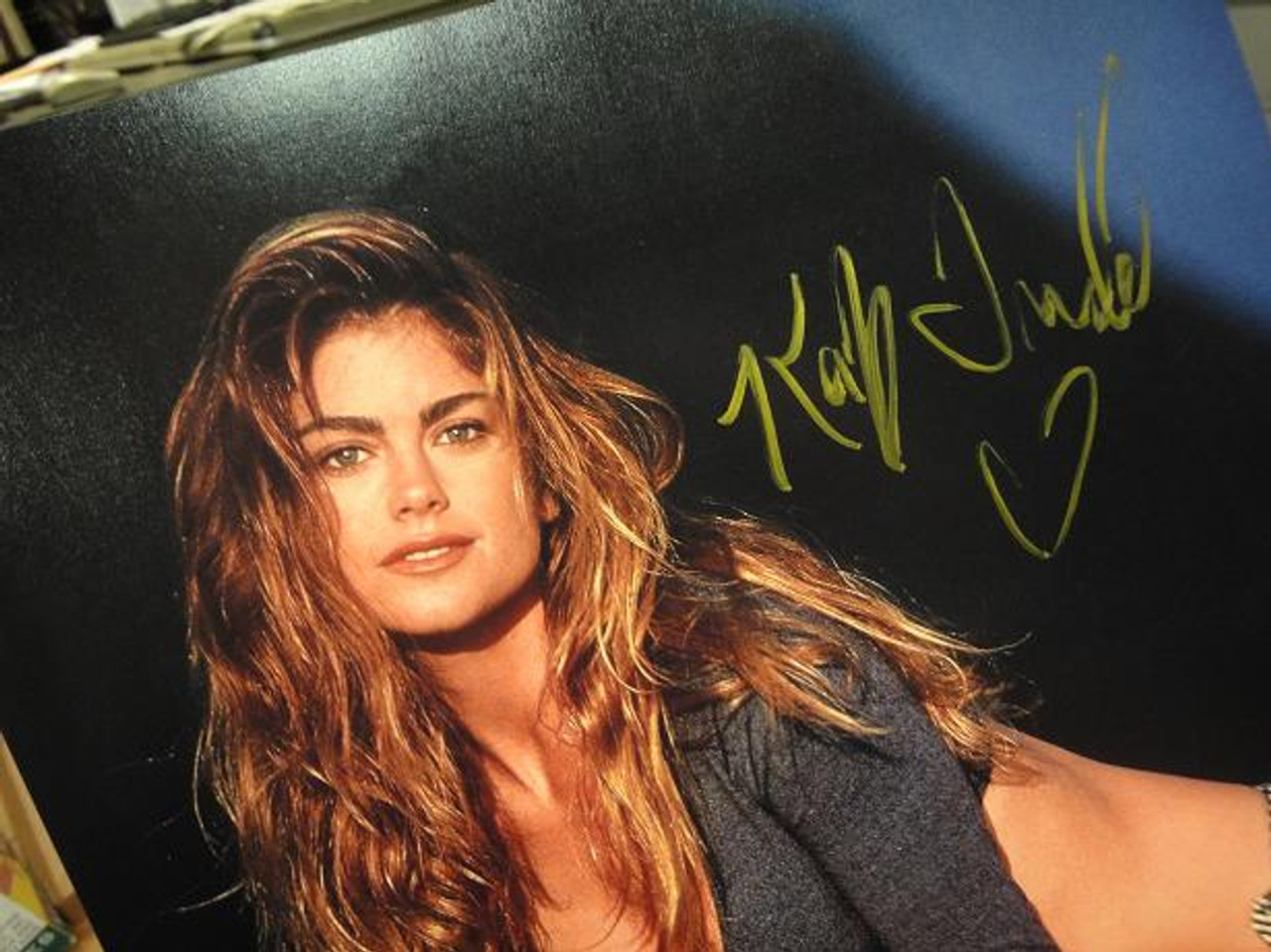 Ireland, Kathy Color Photo Signed Autograph Cheesecake