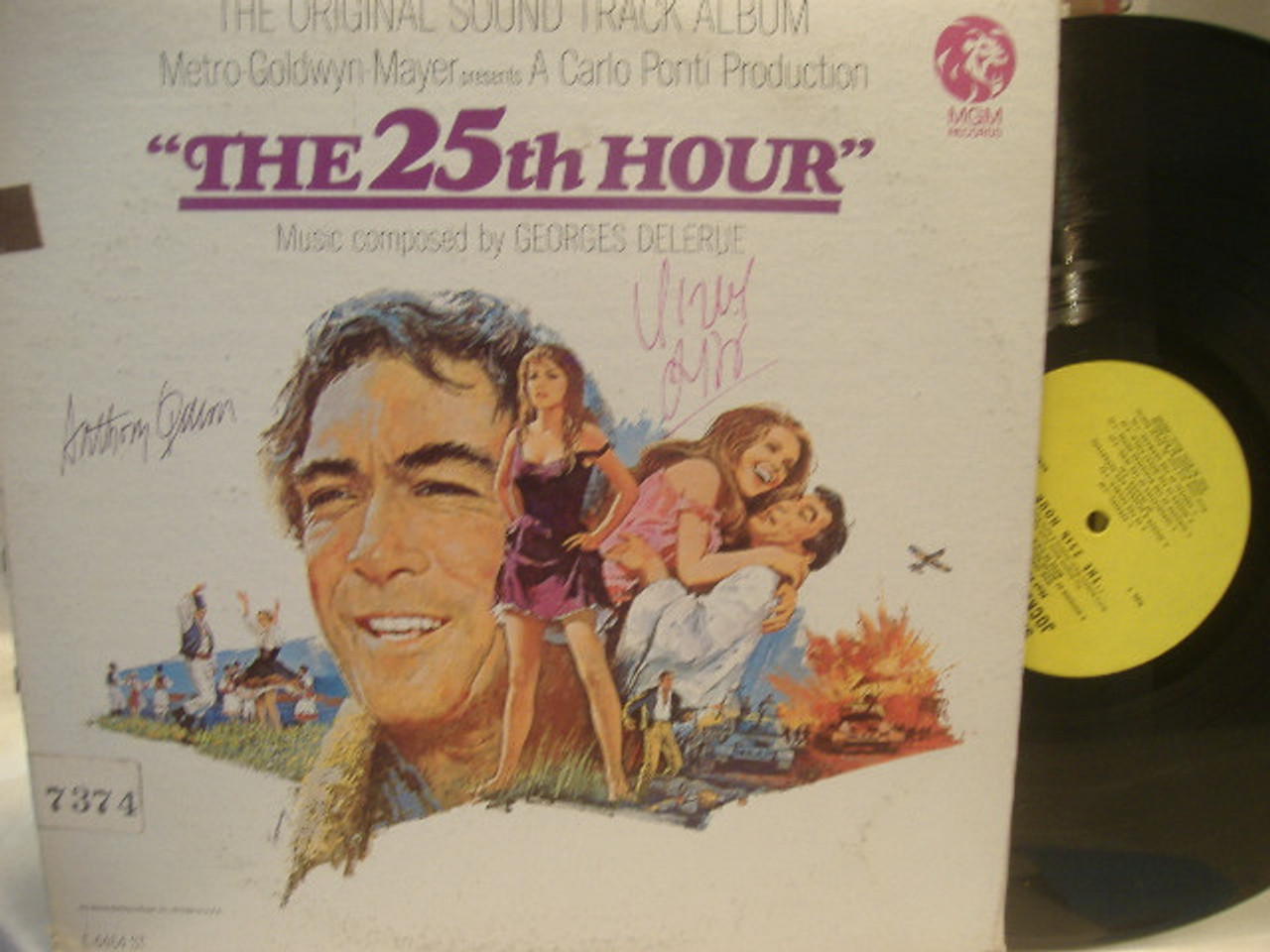 Lisi, Virna Anthony Quinn LP Signed Autograph The 25Th Hour 1967