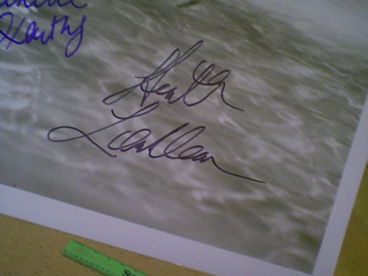 """Locklear, Heather & Catherine Oxenberg 1986 Photo """"Dynasty"""" Signed Autograph With Byline"""
