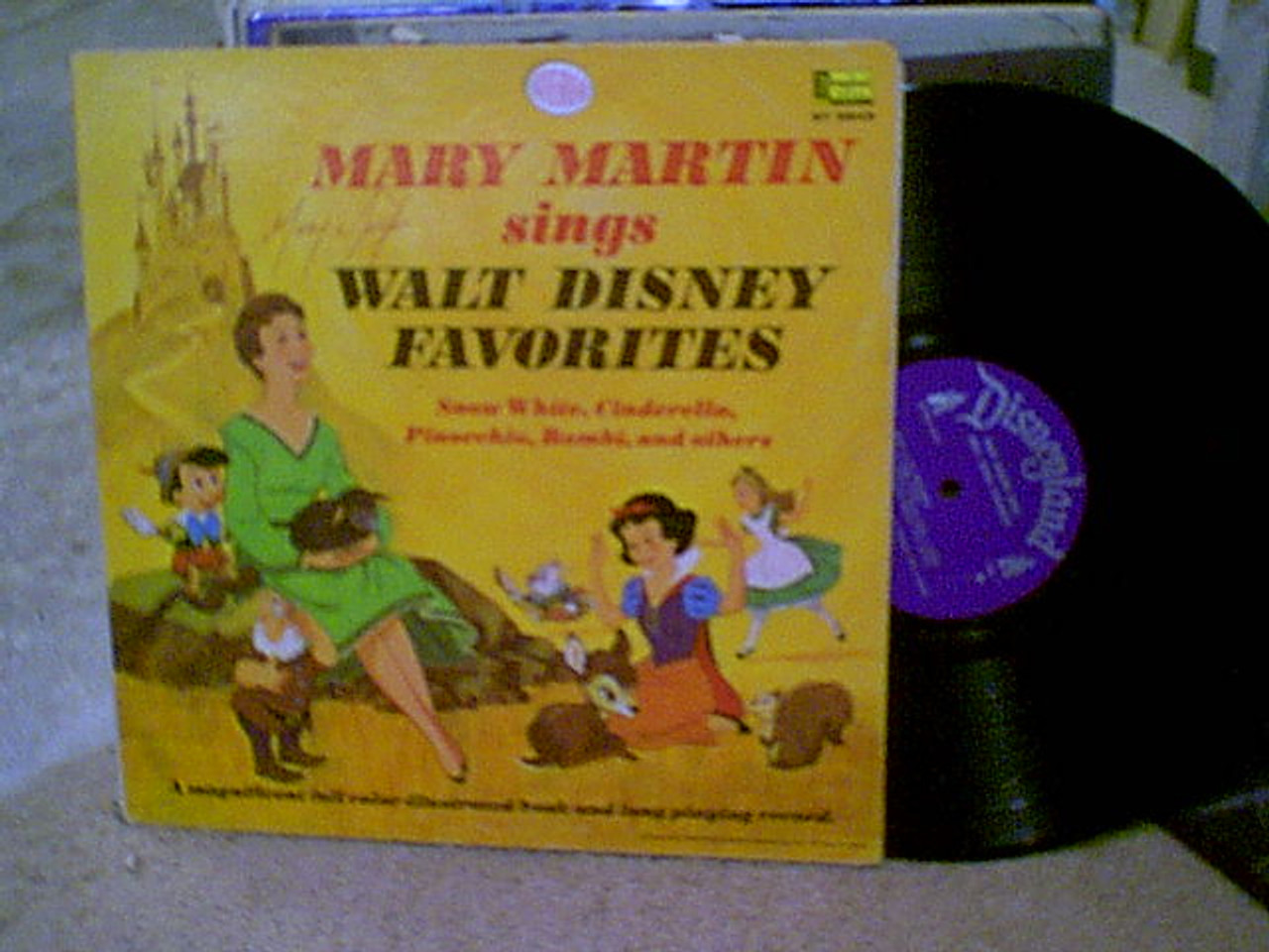 Martin, Mary LP Signed Autograph Walt Disney Favorites Snow White Cinderella Bambi 1966