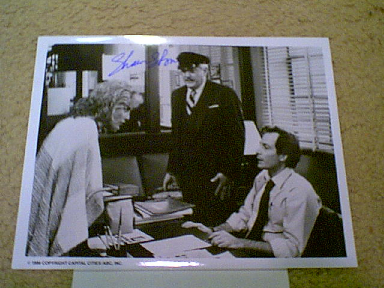 """Stone, Sharon 1986 Photo """"Mr. & Mrs. Ryan"""" Signed Autograph With Byline"""