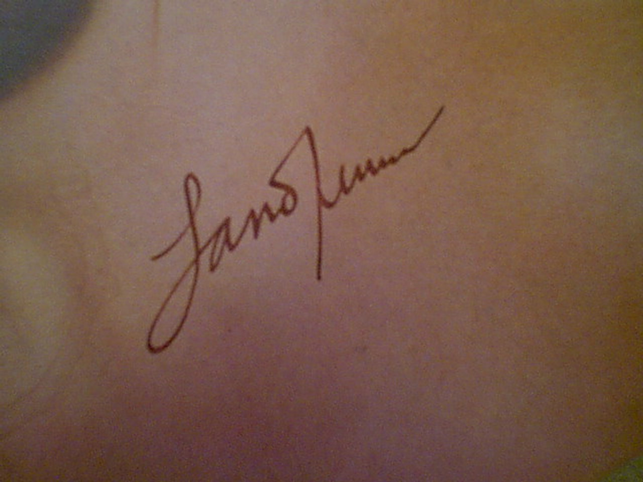 """Turner, Lana """"Screenland"""" Magazine 1951 Signed Autograph Color Cover Photo"""