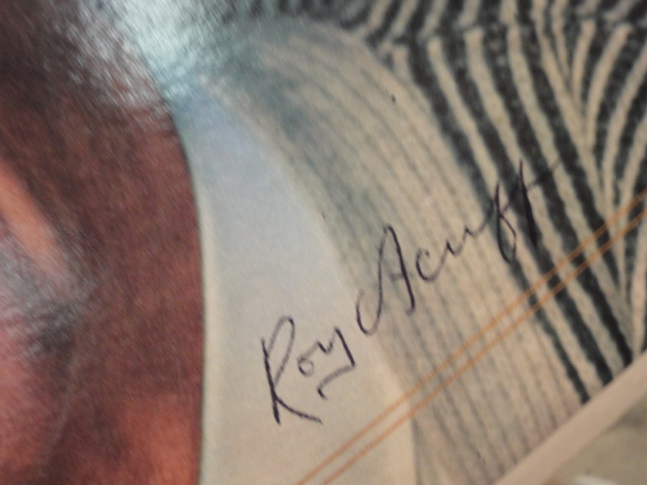 """Acuff, Roy """"The Great"""" 1964 LP Signed Autograph """"Little Moses"""" Country"""