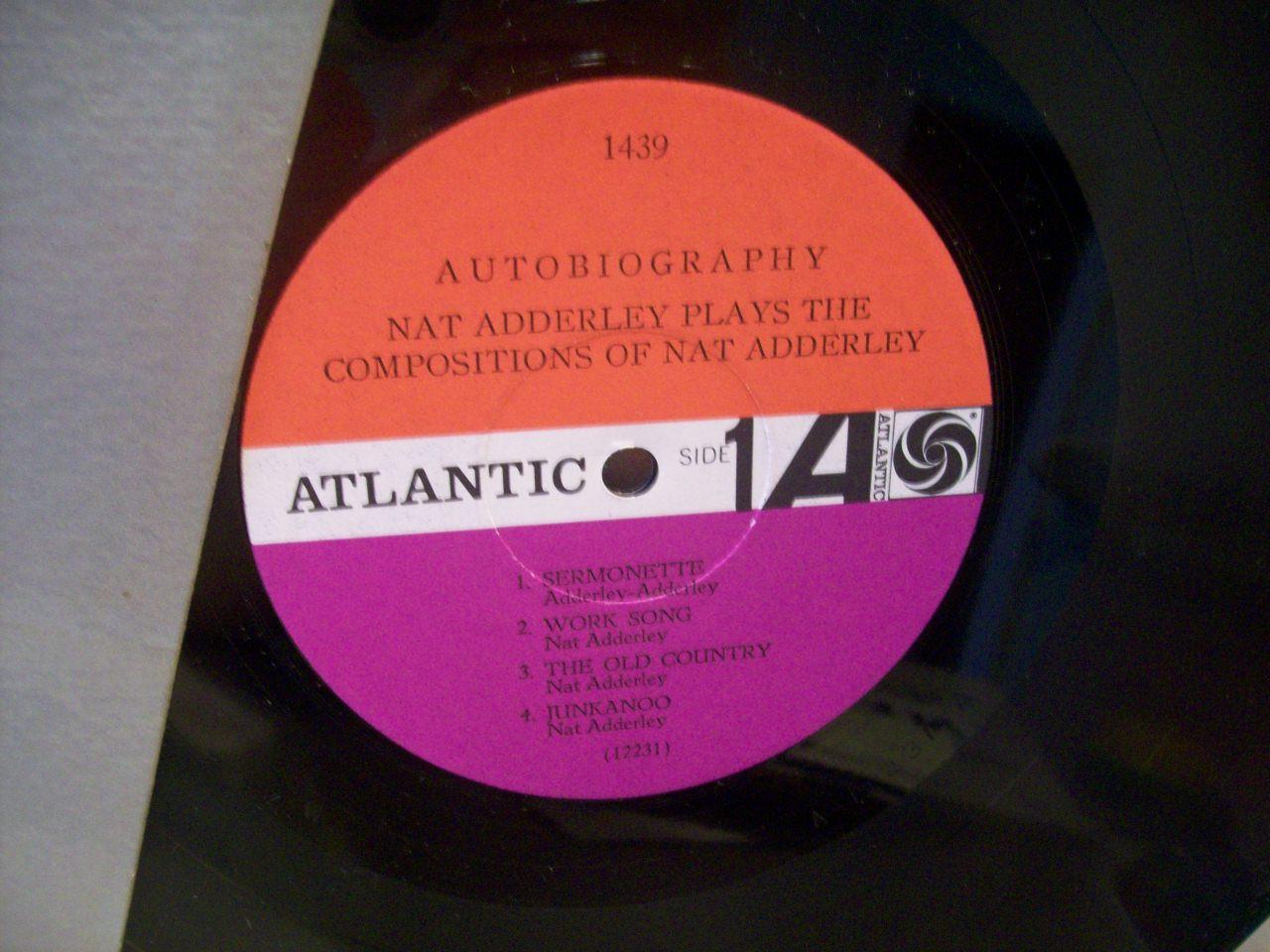 Adderley, Nat LP Signed Autograph Autobiography Jazz 1965