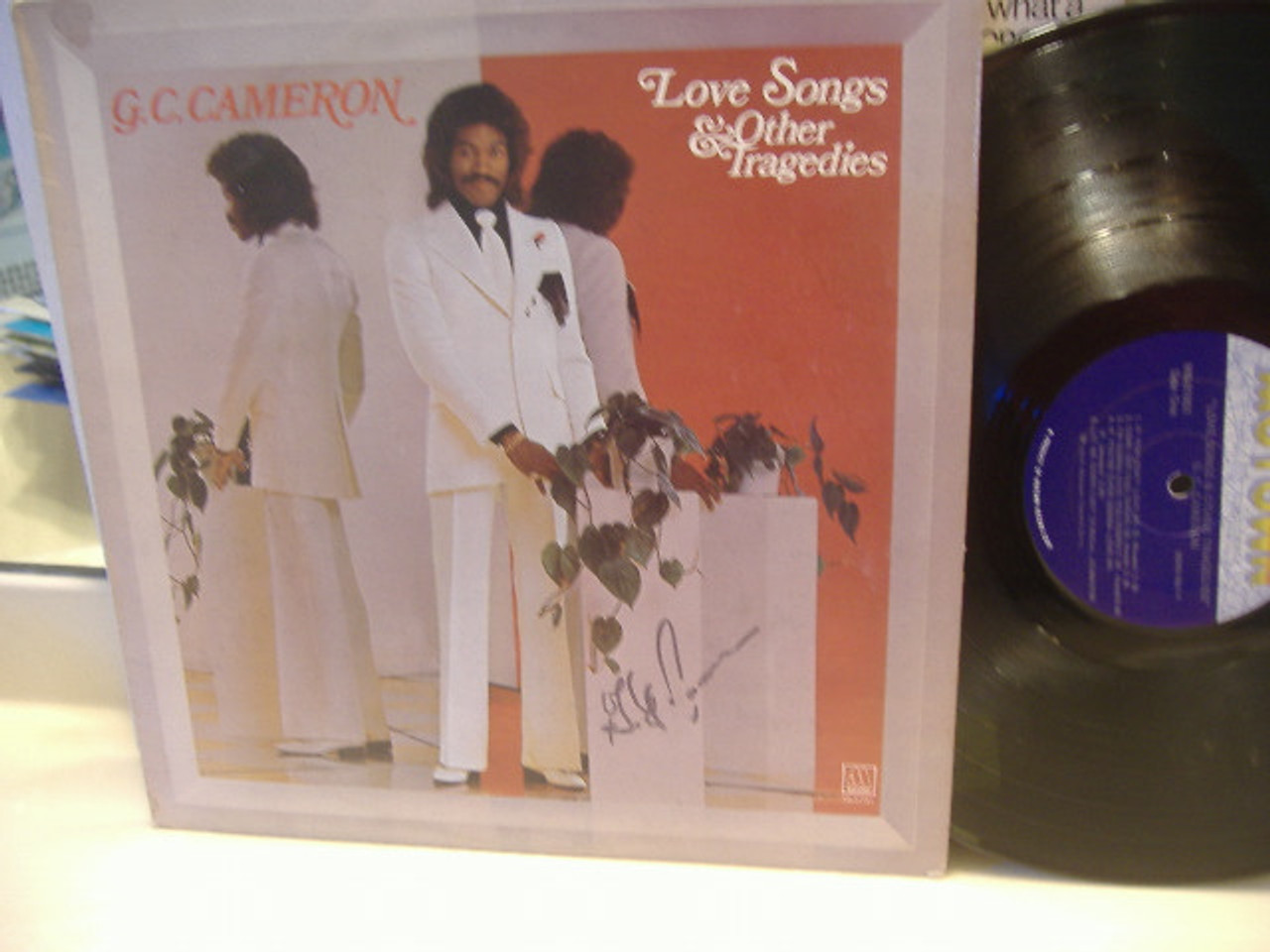 Cameron, Gc LP Signed Autograph Love Songs And Other Tragedies Soul