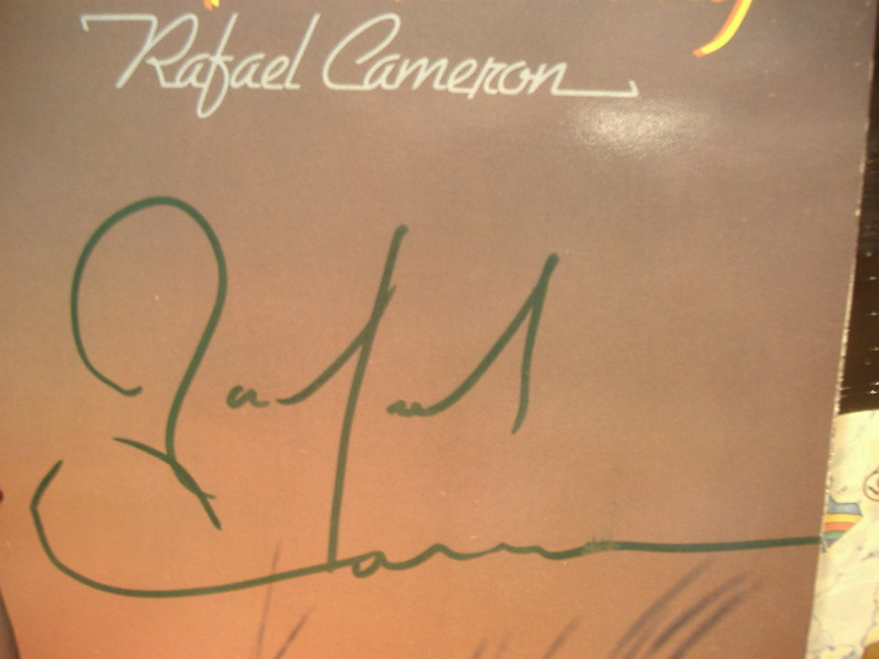 Cameron, Rafael LP Signed Autograph Cameron All The Way
