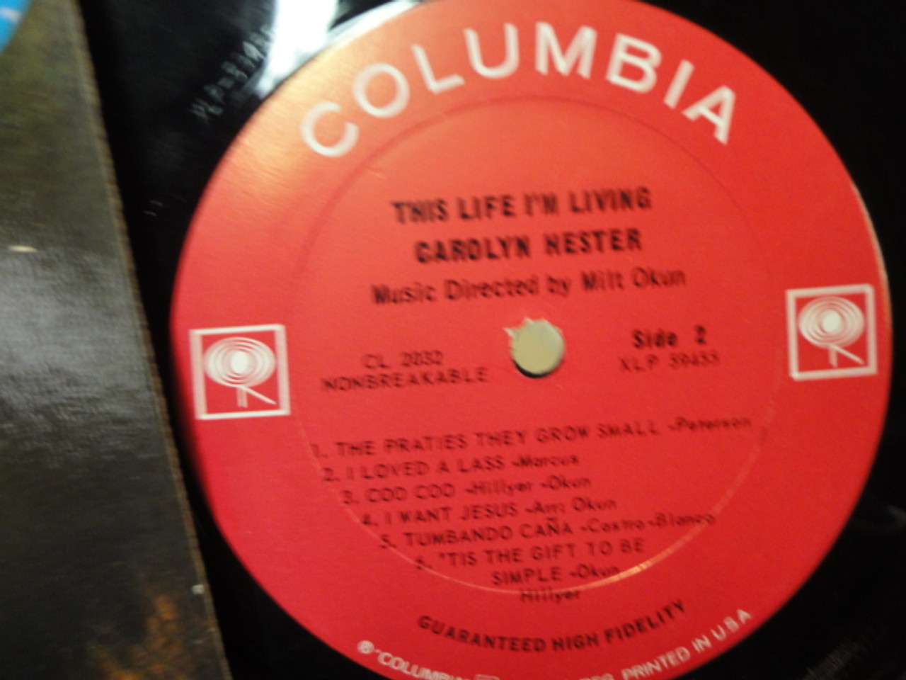 """Hester, Carolyn """"This Life I'm Living"""" 1963 LP Signed Autograph Folk"""