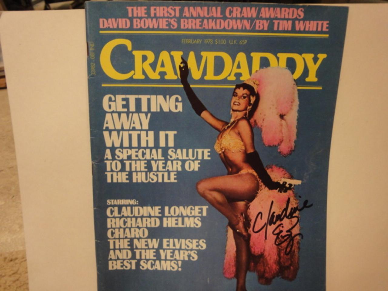 Longet, Claudine Crawdaddy Magazine 1978 Signed Autograph