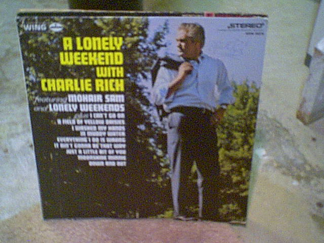 """Rich, Charlie """"A Lonely Weekend With"""" 1969 LP Signed Autograph """"Mohair Sam"""""""