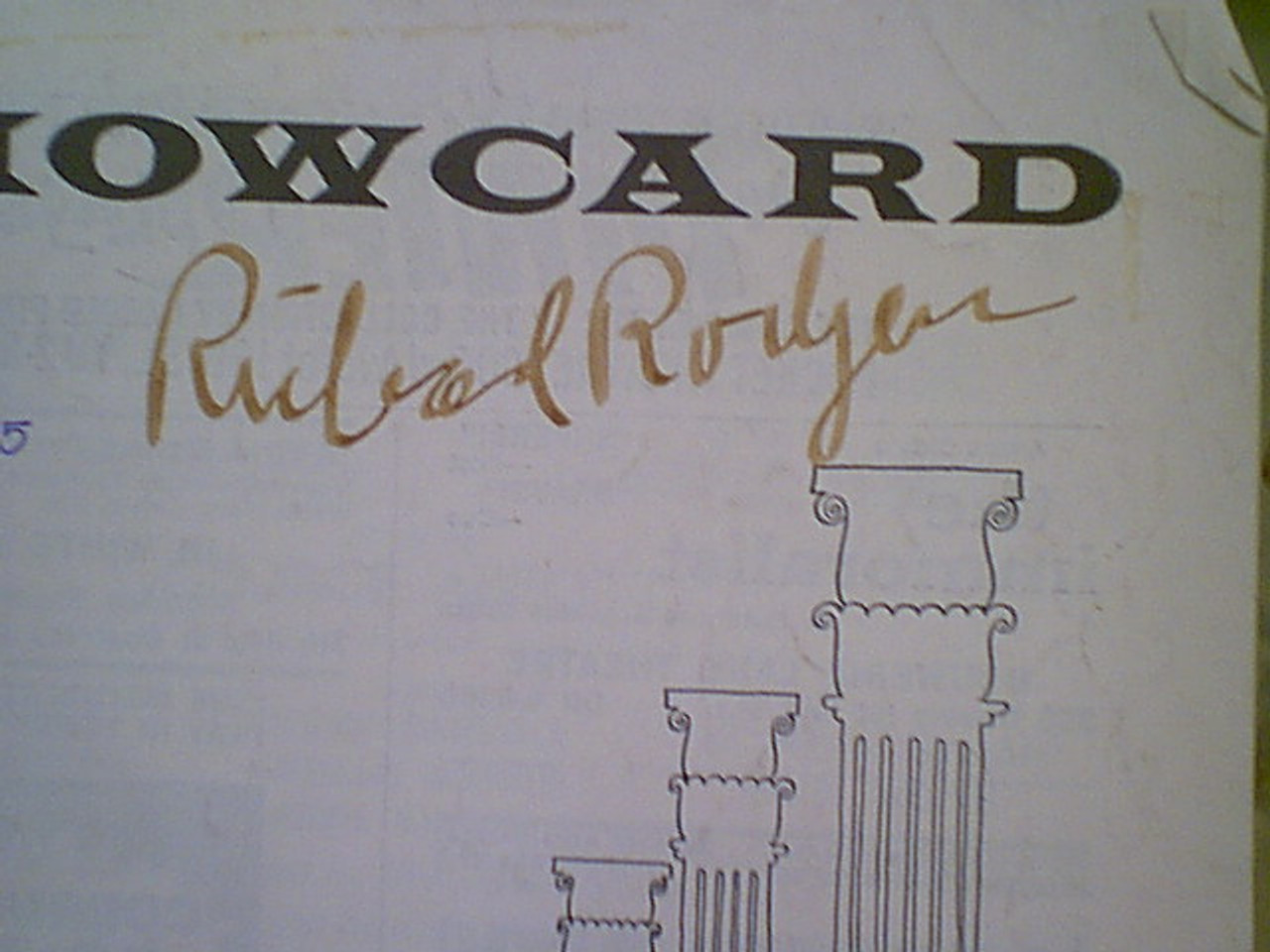 """Rodgers, Richard """"Boys From Syracuse"""" 1965 Showcard Theatre Program Signed Autograph"""
