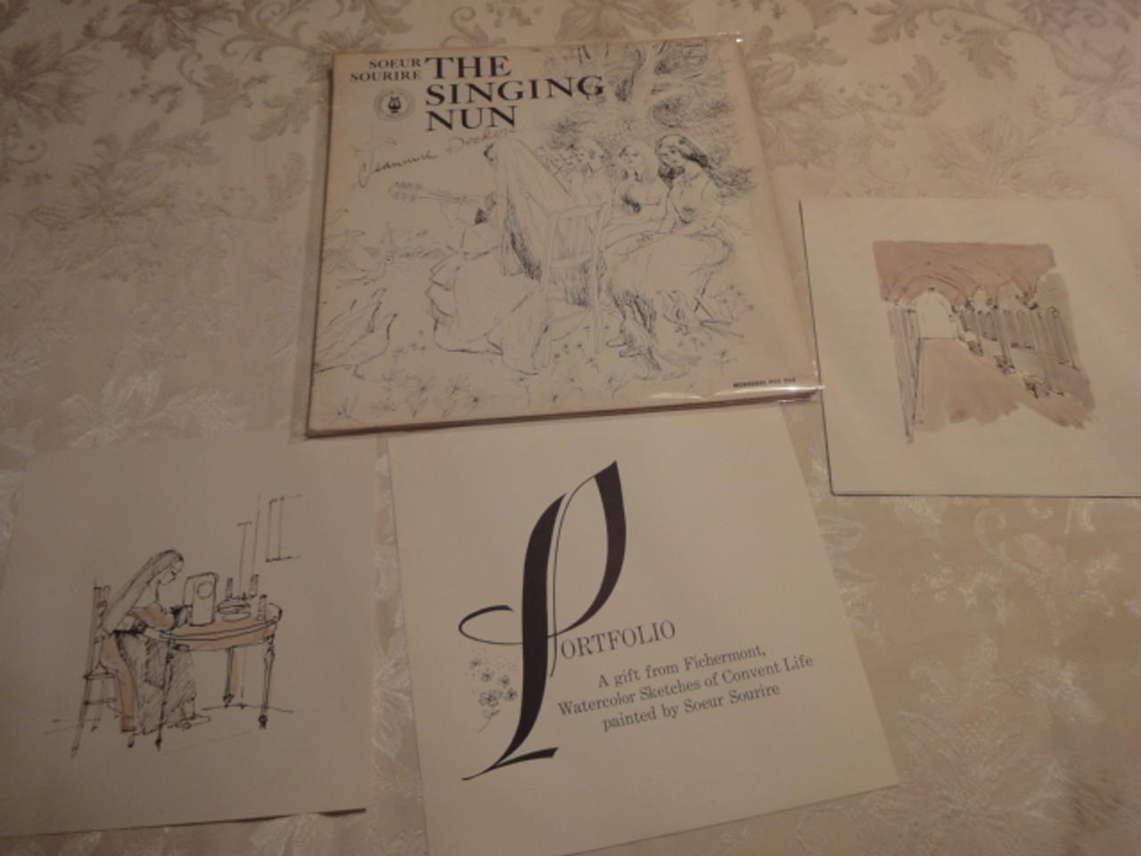 """Soeur Sourire Jeanne Jeannine Deckers """"The Singing Nun"""" LP Signed Autograph"""