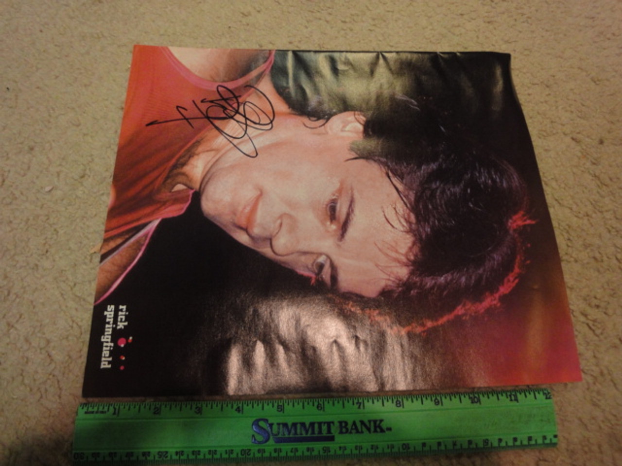 Springfield, Rick Color Photo Signed Autograph