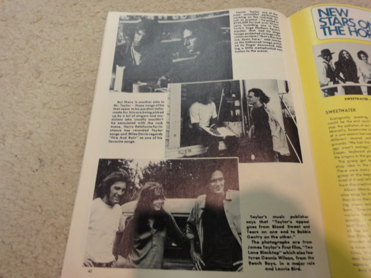 Taylor, James Hit Parader Magazine 1971 Signed Autograph Color Cover Photo