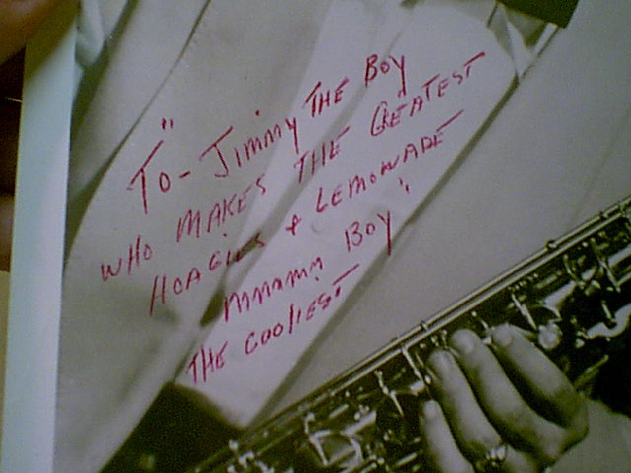 Ventura, Ernie Photo Signed Autograph 1950'S Jazz Saxophone