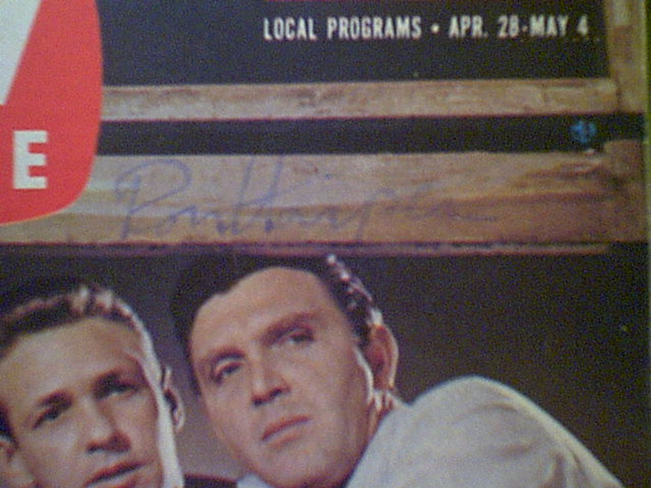 87th Precinct TV Series Ron Harper Robert Lansing 1962 TV Guide Signed Autograph Color Photo TV Series